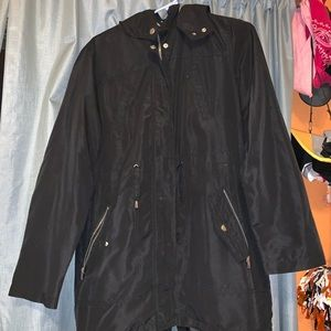 Black Light Rain Coat/windbreaker